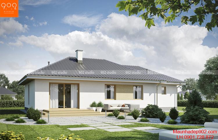 Nhà kiểu pháp 1 tầng thu hút ánh nhìn trong từng chi tiết (nguồn: maunhadep902.com)