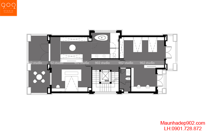 Thiết kế biệt thự 3 tầng hiện đại