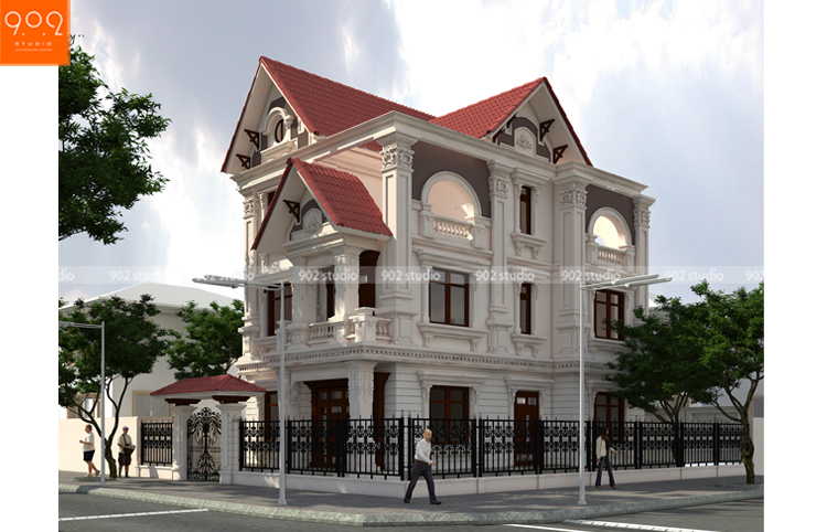 Nhà đẹp 3 tầng phong cách tân cổ điển