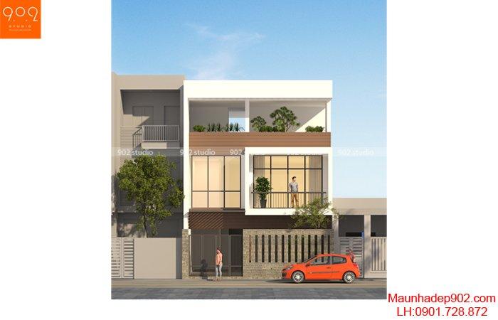 Kiểu nhà phố với thiết kế đơn giản nhưng vẫn toát lên vẻ sang trọng hiện đại