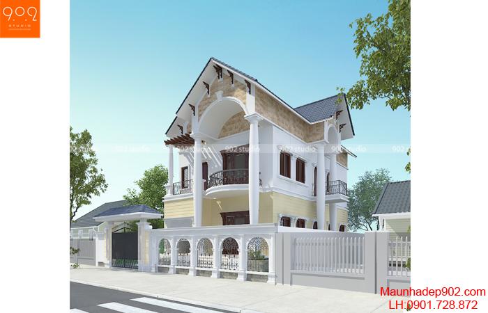 Thiết kế nhà phố 2 mặt tiền đẹp