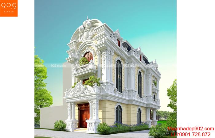 Thiết kế biệt thự đẹp phong cách Pháp