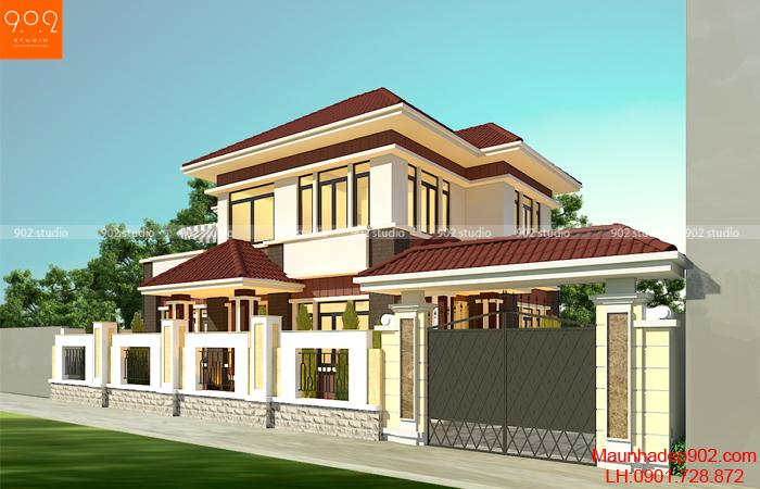 Những mẫu nhà 2 tầng mái ngói đẹp chọn xây ngay