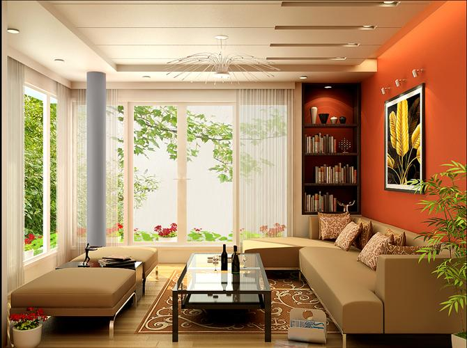 Ngôi nhà luôn đầy và đủ ánh sáng nhất là trong phòng khách