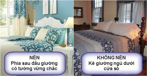 Đặt giường ngủ ở vị trí tốt nhất trong phòng