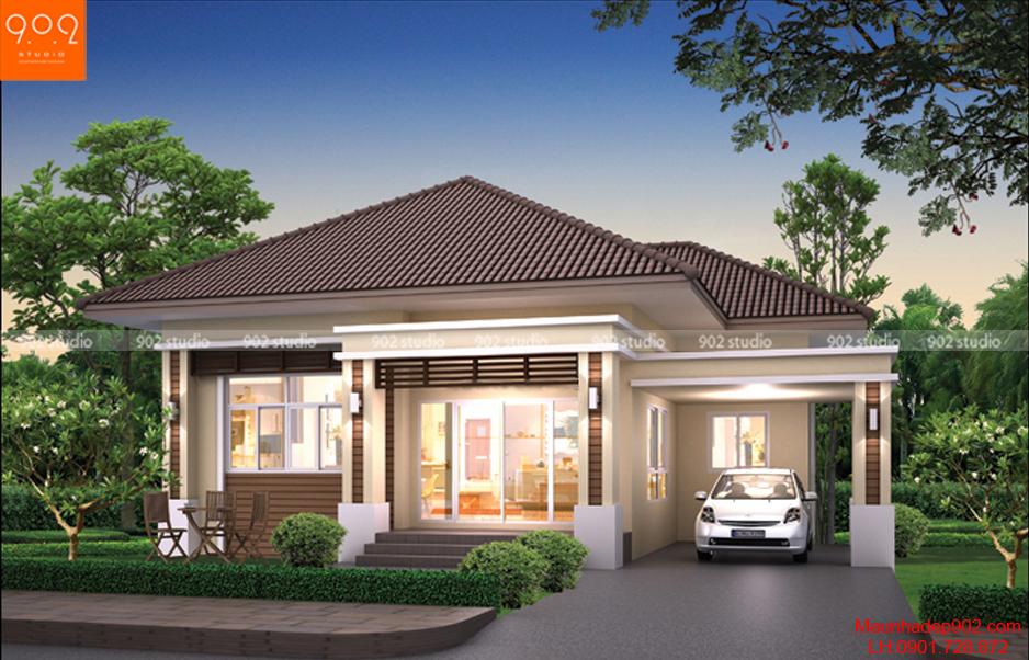 Biệt thự mini 2 tầng kiểu thái (nguồn: maunhadep902.com)