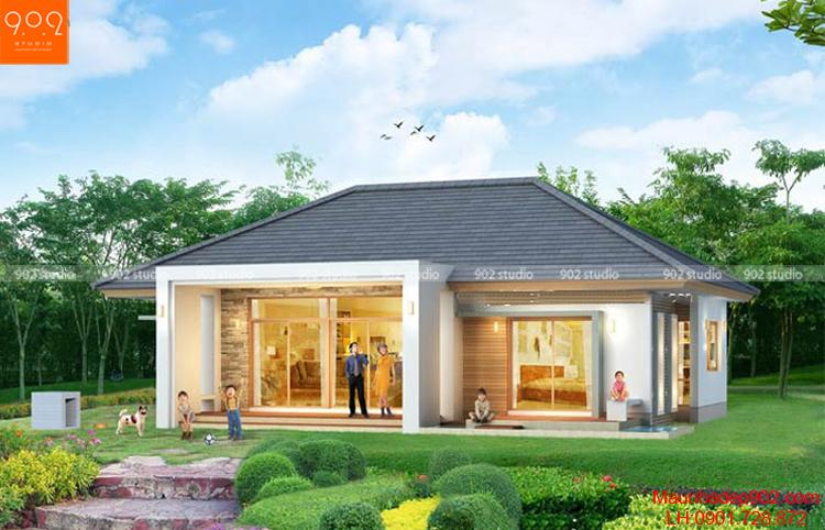 Mẫu thiết kế nhà đẹp giành được nhiều thiện cảm của gia chủ ở vùng ngoại ô và nông thôn