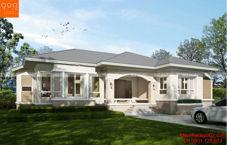 Một ngôi nhà đẹp phong cách Pháp trang nhã bạn không nên bỏ lỡ (nguồn: maunhadep902.com)