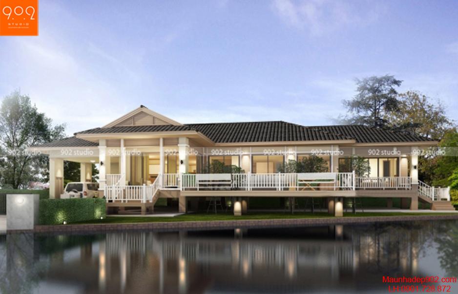 Thiết kế biệt thự sân vườn nghỉ dưỡng
