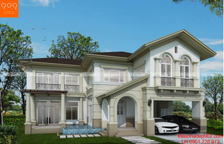 Công trình 2 tầng kiểu pháp đẹp (nguồn: maunhadep902.com)