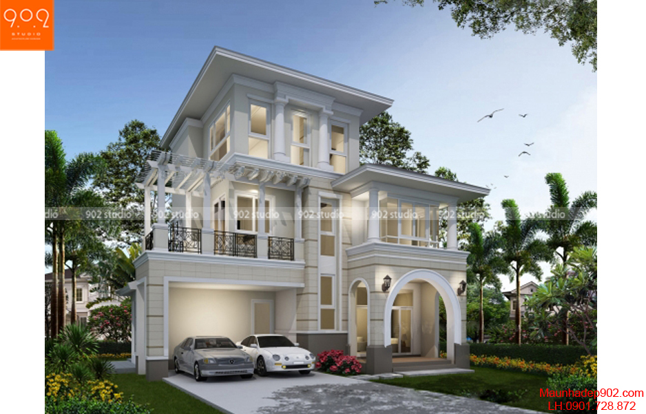 Phối cảnh thiết kế nhà đẹp