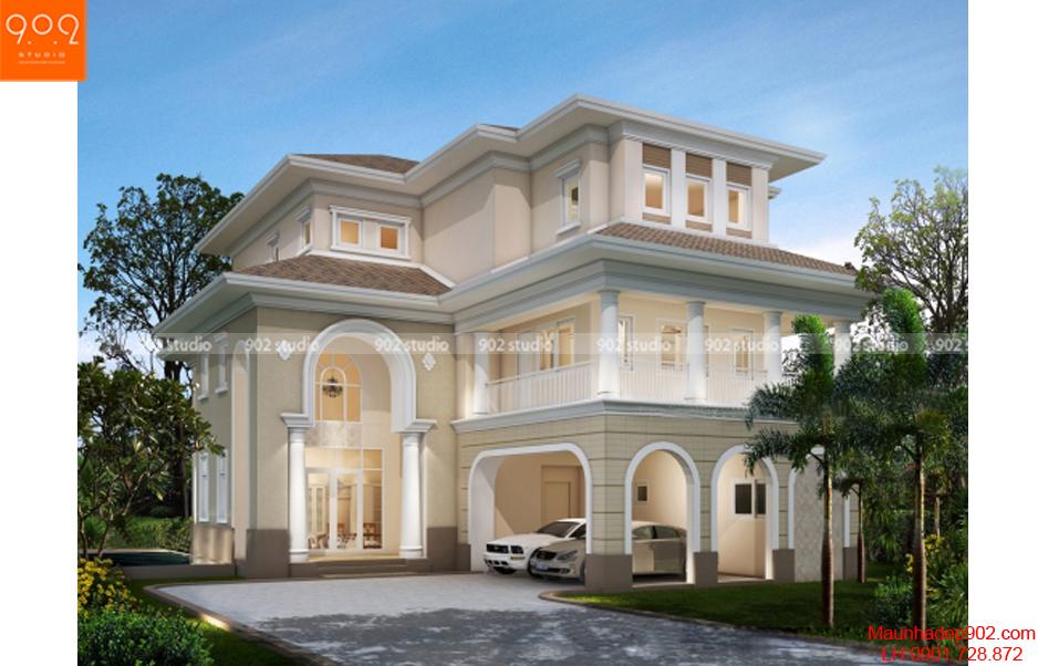 Nhà 3 tầng kiểu Phấp đẹp phong cách tối giản