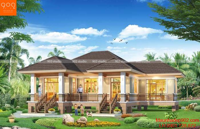 Kiểu nhà 1 tầng theo xu hướng đơn giản đang được thiết kế nhiều nhất