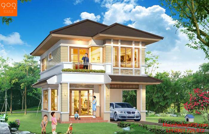 Ngôi biệt thự mini đẹp tràn ngập màu sắc thiên nhiên, đánh bật những khách hàng khó tính nhất