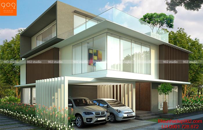 Thiết kế nhà đẹp 3 tầng hiện đại