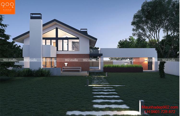 Bản thiết kế nhà hai tầng đẹp