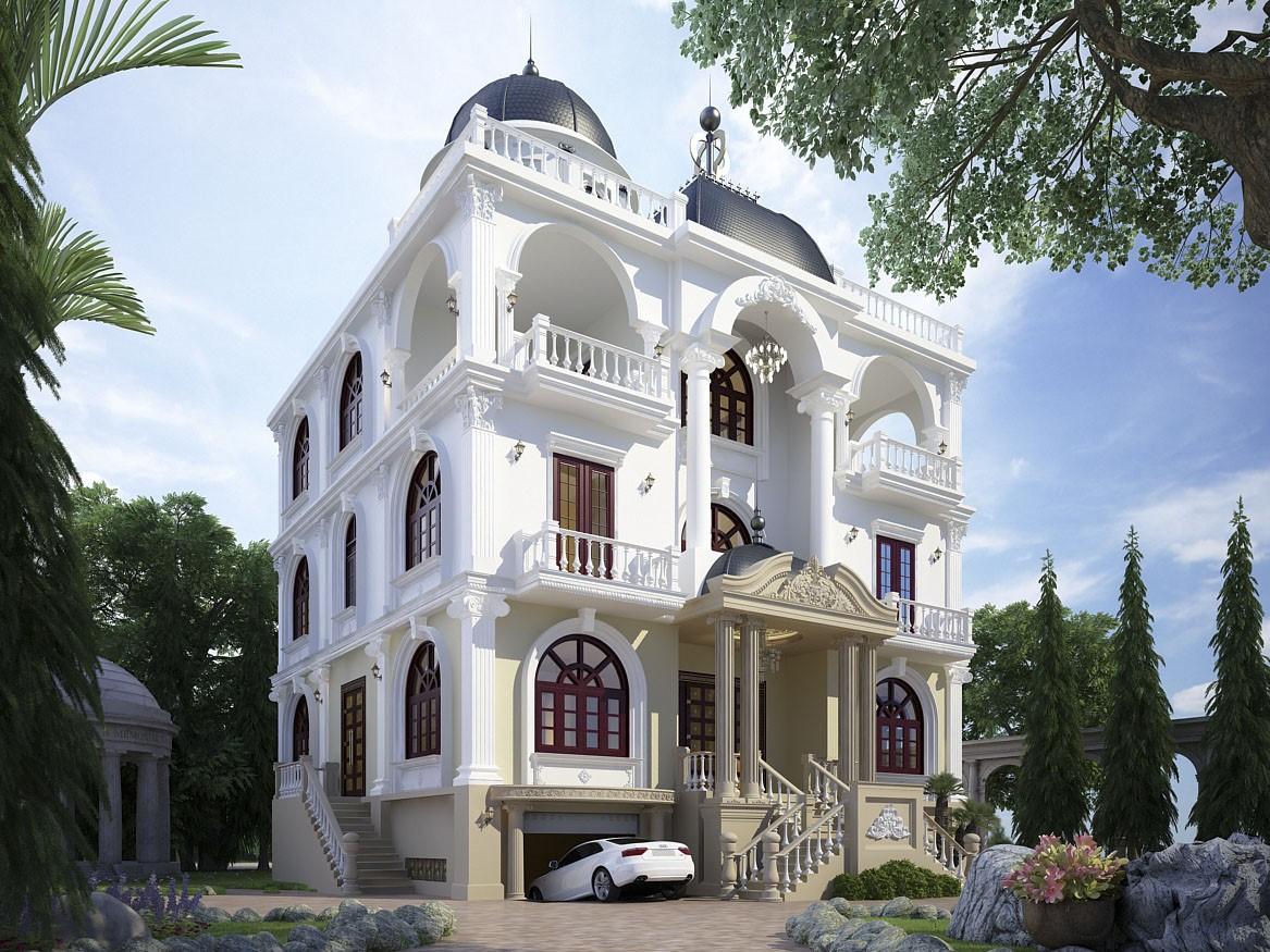 Màu sắc trang nhã làm nổi bật vẻ thu hút của các căn biệt thự tân cổ điển