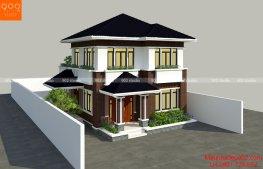 Phối cảnh nhà 2 tầng đẹp nhà anh Bình Phú Quốc