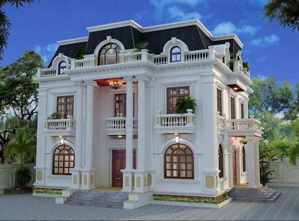 Biệt thự tân cổ điển 2 tầng là phổ biến ở Việt Nam