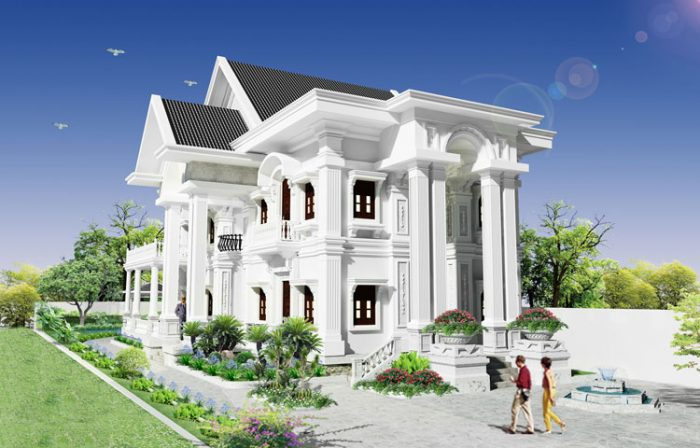 thiết kế biệt thự cổ điển