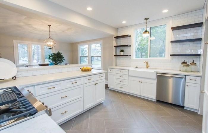 Tủ bếp sang trọng cho không gian lớn