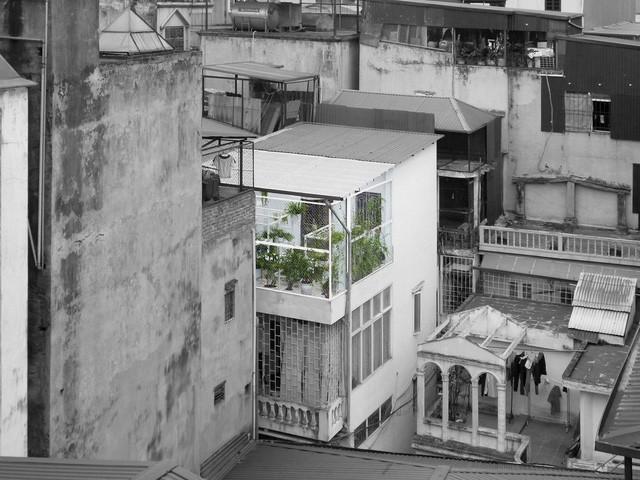 Công trình nằm trên tầng 3 săn thượng ngôi nhà