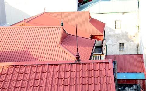 Mái tôn nhà hiện đại