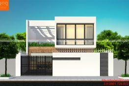 Mẫu nhà phố 1 trệt 1 lầu 3 phòng ngủ hiện đại - BT153