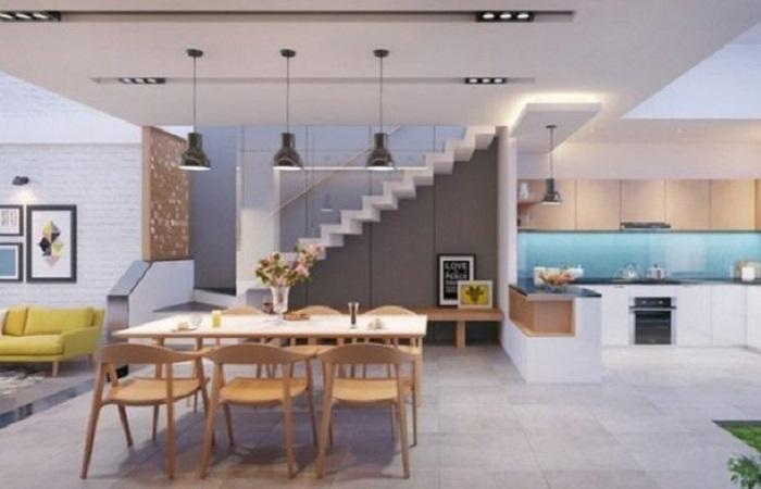 Nền nhà bếp thấp hơn nền nhà, nên hay không nên?