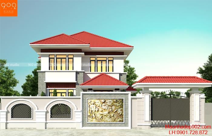 """Ngôi nhà 125m2 này chính là xu hướng mới nhất đang rất được nhiều người dân Việt Nam để ý tới, là xu hướng nhà ở của năm """"2018""""."""
