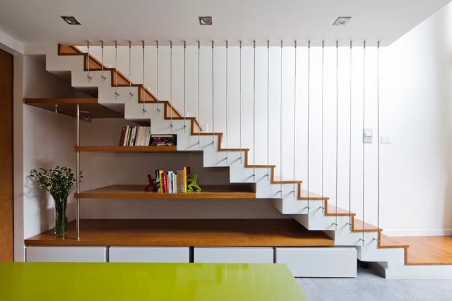 Cầu thang chính là điểm khởi đầu để dẫn những luồng khí tốt
