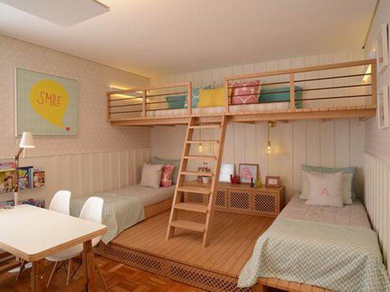Mẫu 2: Trang trí tầng lửng thành phòng ngủ