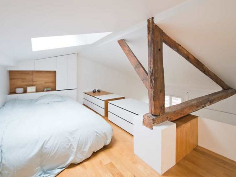 Mẫu 8: Trang trí tầng lửng thành phòng ngủ