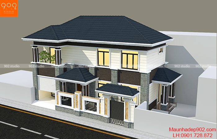 Phối cảnh mẫu thiết kế gara ô tô trong nhà