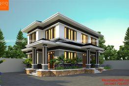 Mẫu thiết kế nhà mái thái anh Nghi ở Hòa Bình