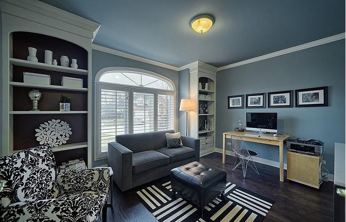 Sơn nhà màu xám xanh - sự lựa chọn tuyệt vời cho không gian sang trọng