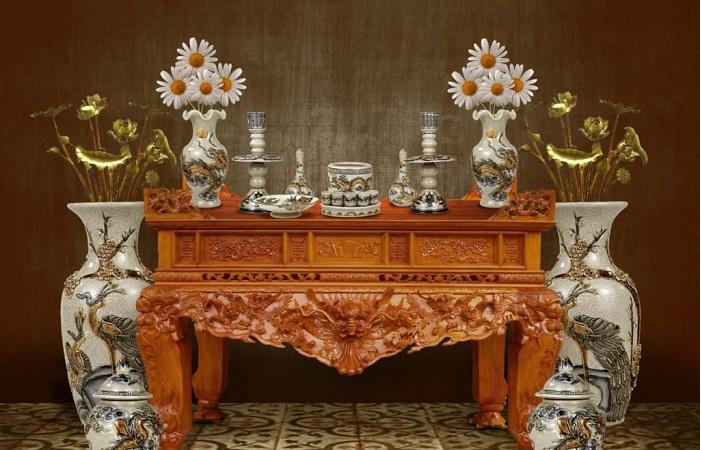 Tìm hiểu các sử dụng kích thước bàn thờ theo lỗ ban