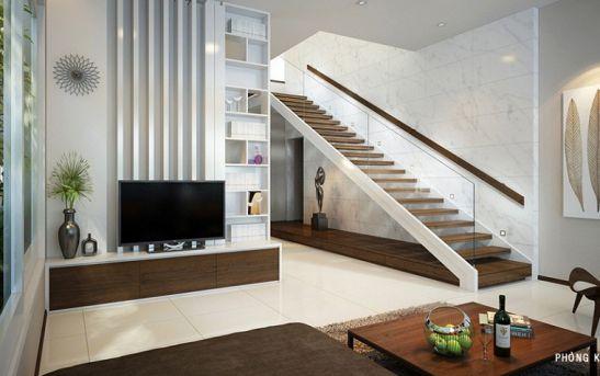 Từ cầu thang bước vào cửa phòng nên có khoảng đệm hay còn gọi là chiếu nghỉ