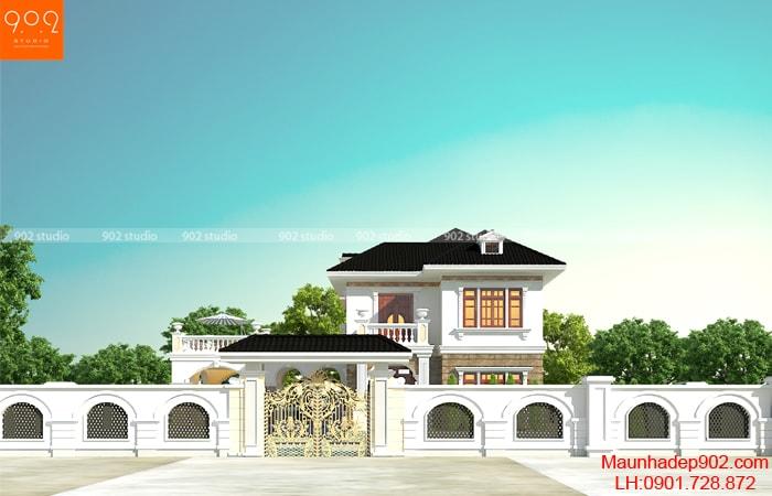 Mẫu nhà đẹp 2 tầng tân cổ điển tại Bắc Ninh