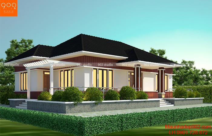 Nếu sở hữu một không gian rộng lớn thì thiết kế nhà vườn 1 tầng là sự lựa chọn hoàn hảo nhất cho bạn