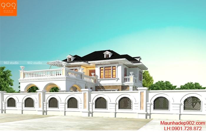 Mẫu thiết kế nhà đẹp 2 tầng mang phong cách tân cổ điển là nguồn cảm hứng bất tận thể hiện phong cách riêng của gia chủ