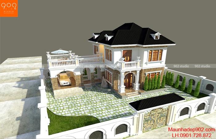 Hình ảnh nhà đẹp 2 tầng tại Bắc Ninh