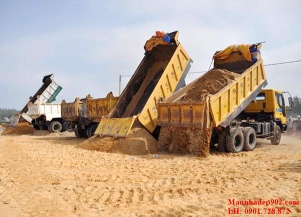 Tùy vào từng thời điểm mà giá cát xây dựng sẽ khác nhau