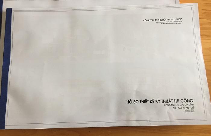 Hồ sơ thiết kế bản vẽ kĩ thuật thi công