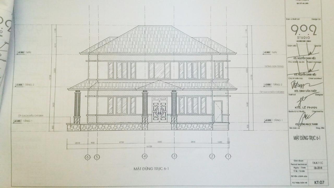 Mặt đứng ngôi nhà