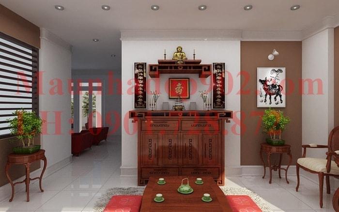 Đối với một số gia đình truyền thống thường đặt bàn thờ ở gian giữa của ngôi nhà