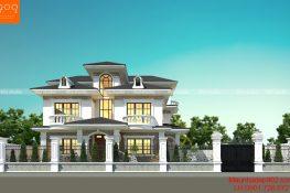 Công trình biệt thự 3 tầng thiết kế cho nhà anh Khang ở Gia Lâm - Hà Nội