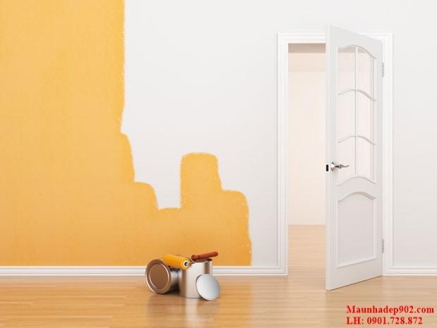 Sơn đè lên lớp sơn cũ là một trong những biện pháp hữu hiệu biến tường cũ thành tường mới