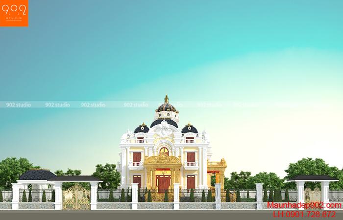 Hình ảnh biệt thự 3 tầng phong cách tân cổ điển ở TP. Sơn La