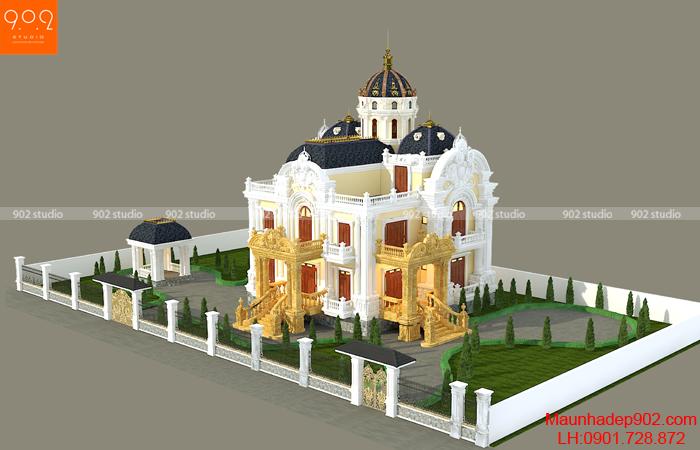 Thiết kế biệt thự 3 tầng đẹp ở Sơn La